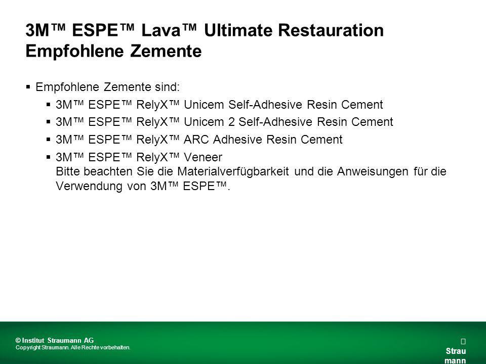 3M™ ESPE™ Lava™ Ultimate Restauration Empfohlene Zemente