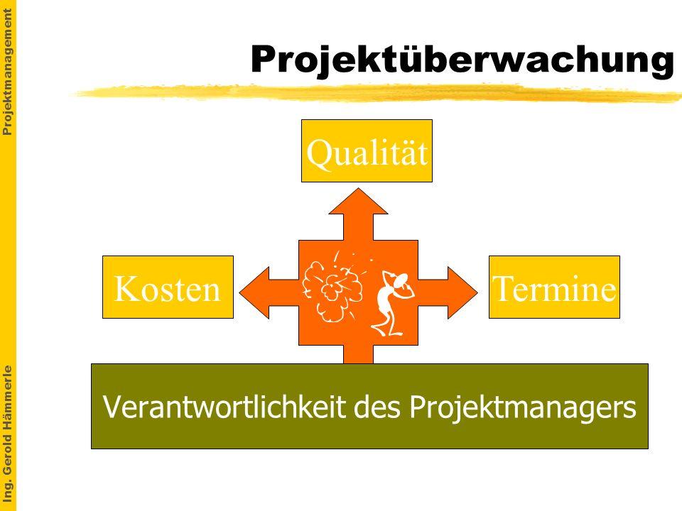 Verantwortlichkeit des Projektmanagers