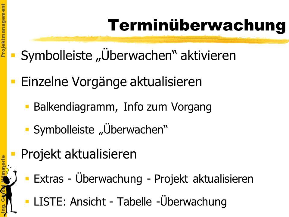"""Terminüberwachung Symbolleiste """"Überwachen aktivieren"""