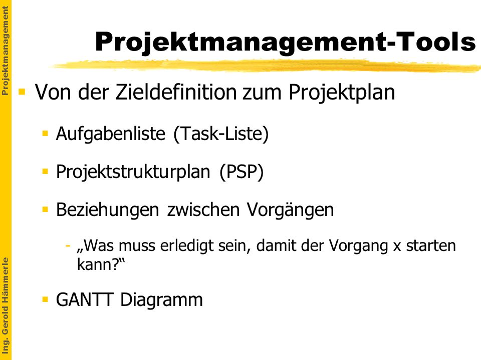 Projektmanagement-Tools