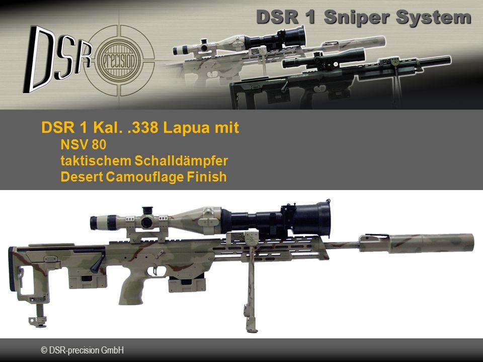 DSR 1 Kal. .338 Lapua mit NSV 80 taktischem Schalldämpfer Desert Camouflage Finish