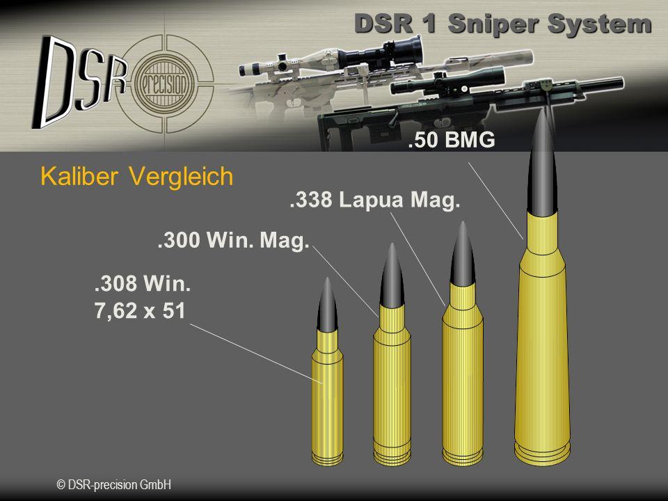 Kaliber Vergleich .50 BMG .338 Lapua Mag. .300 Win. Mag. .308 Win.