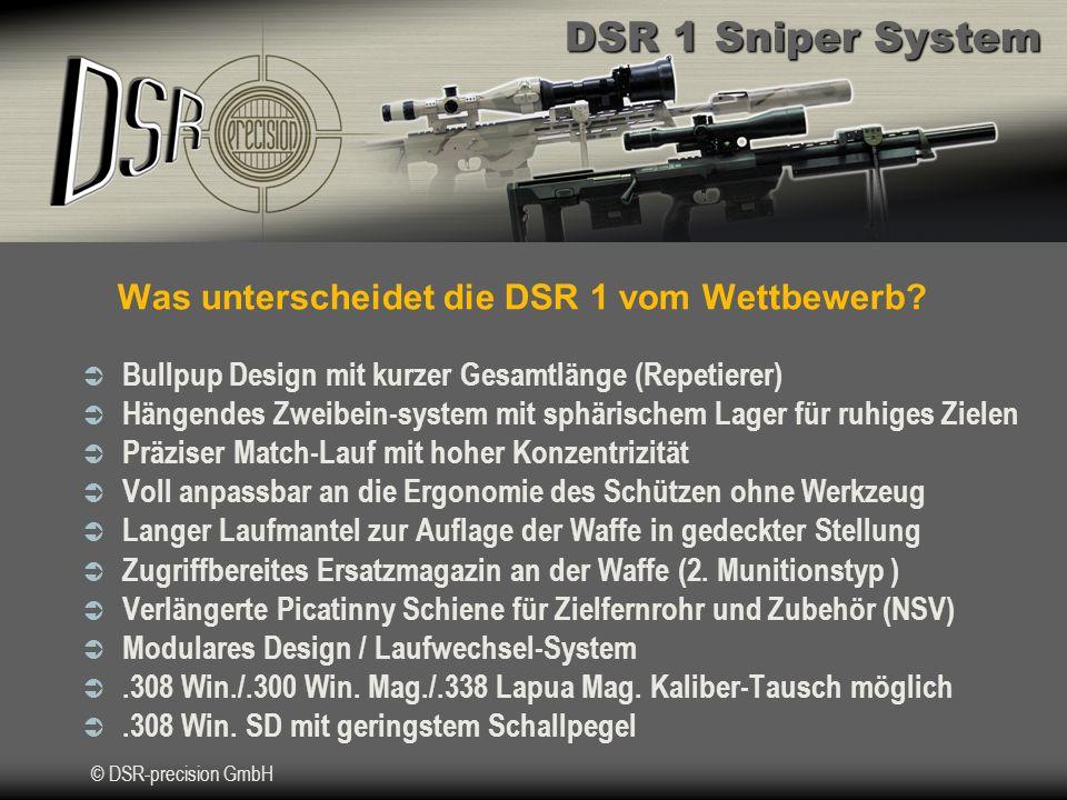 Was unterscheidet die DSR 1 vom Wettbewerb
