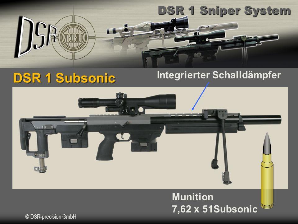 DSR 1 Subsonic Integrierter Schalldämpfer Munition 7,62 x 51Subsonic