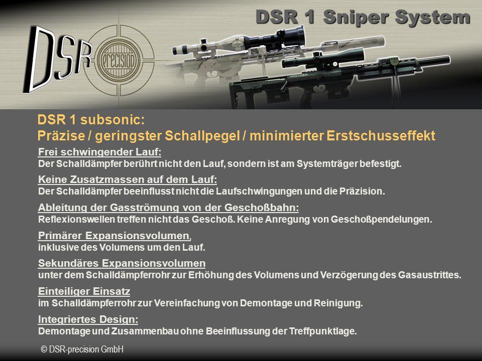 DSR 1 subsonic: Präzise / geringster Schallpegel / minimierter Erstschusseffekt