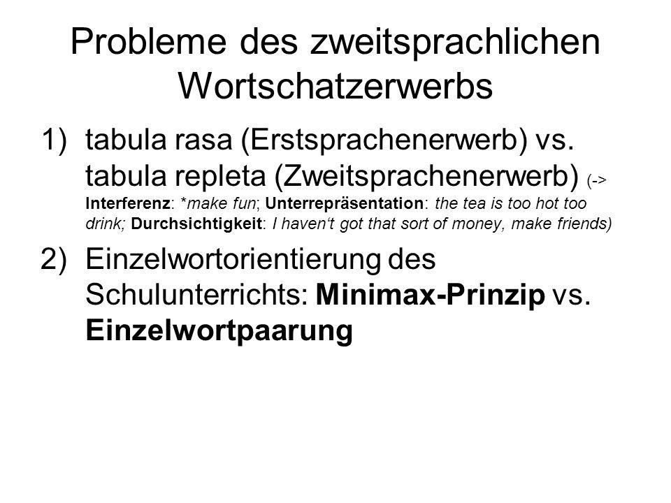 Probleme des zweitsprachlichen Wortschatzerwerbs