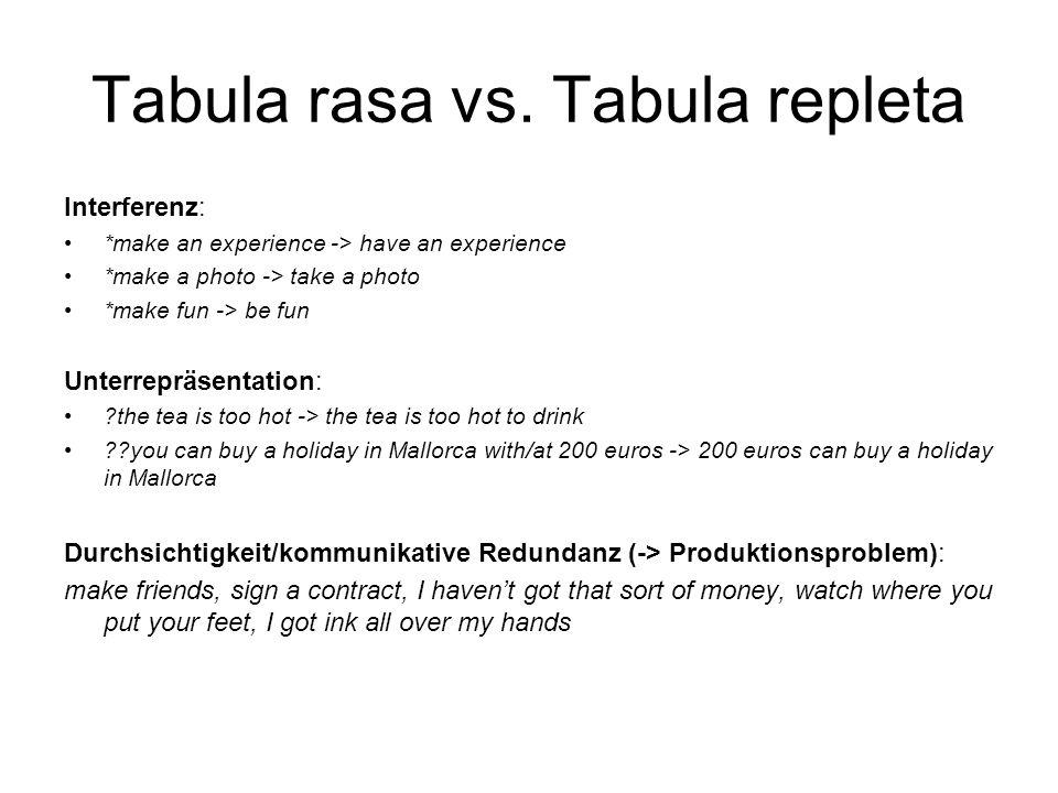 Tabula rasa vs. Tabula repleta