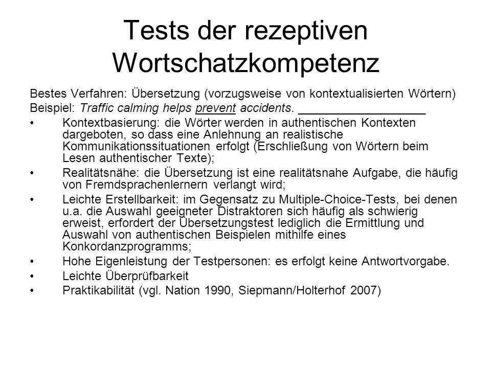 Tests der rezeptiven Wortschatzkompetenz