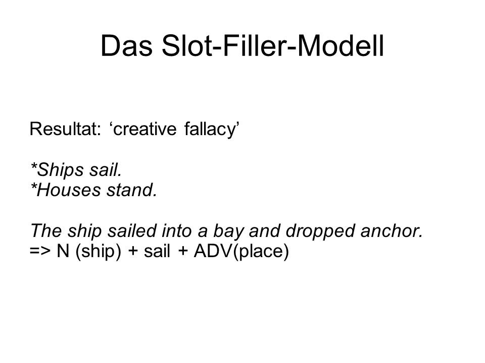 Das Slot-Filler-Modell