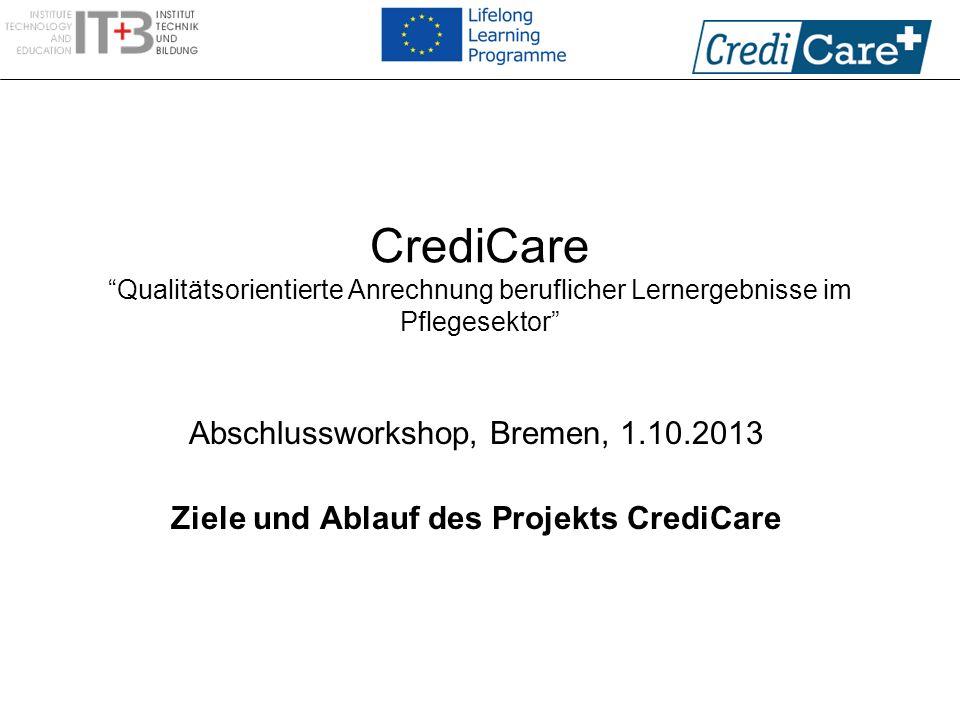Ziele und Ablauf des Projekts CrediCare