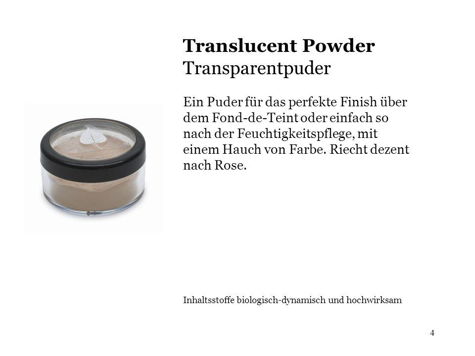 Translucent Powder Transparentpuder