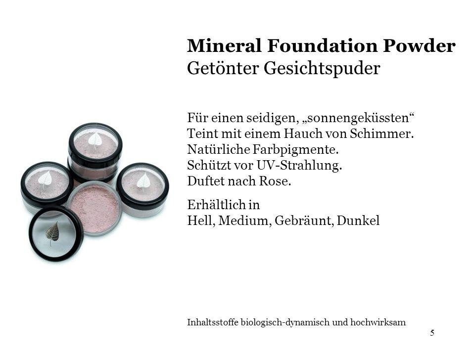 Mineral Foundation Powder Getönter Gesichtspuder