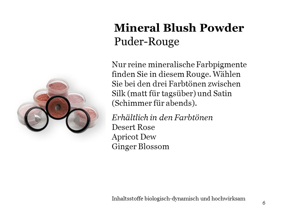 Mineral Blush Powder Puder-Rouge