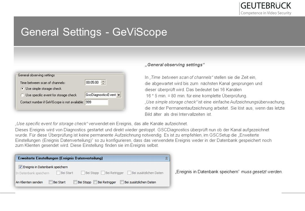 General Settings - GeViScope