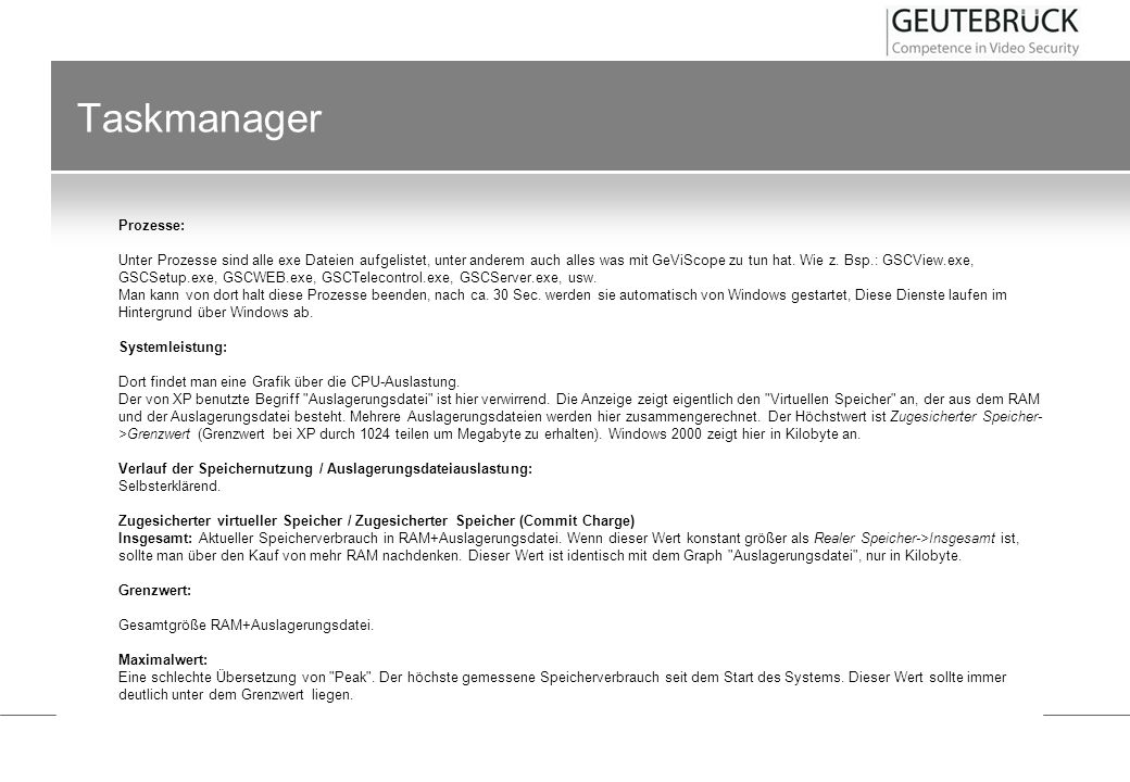 Taskmanager Prozesse:
