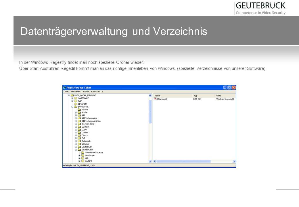 Datenträgerverwaltung und Verzeichnis