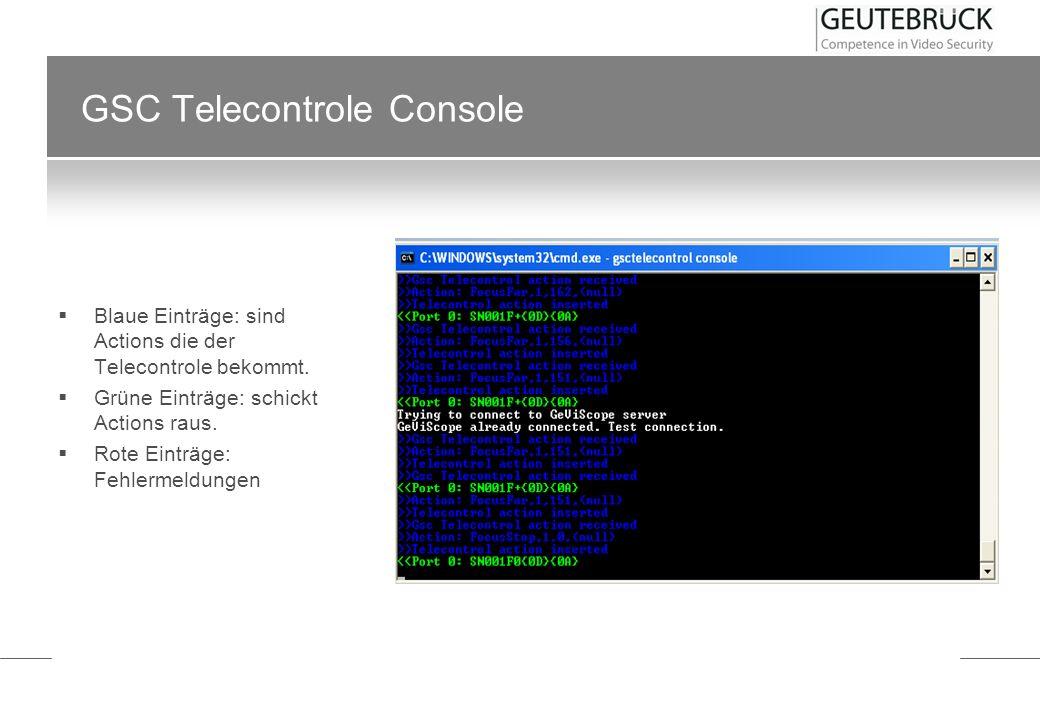 GSC Telecontrole Console