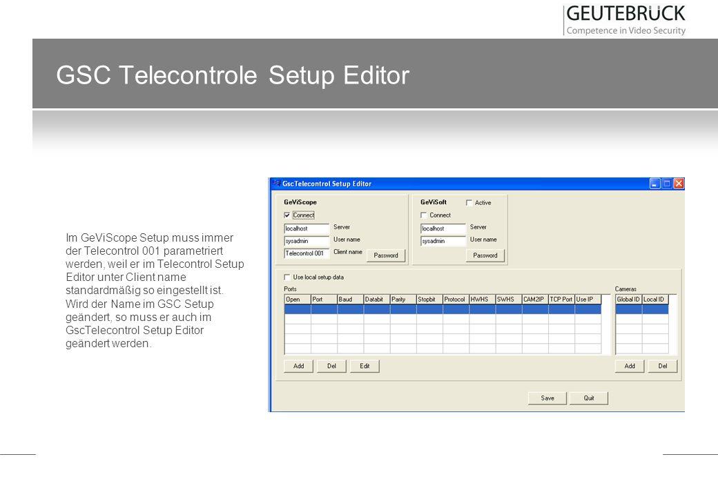 GSC Telecontrole Setup Editor