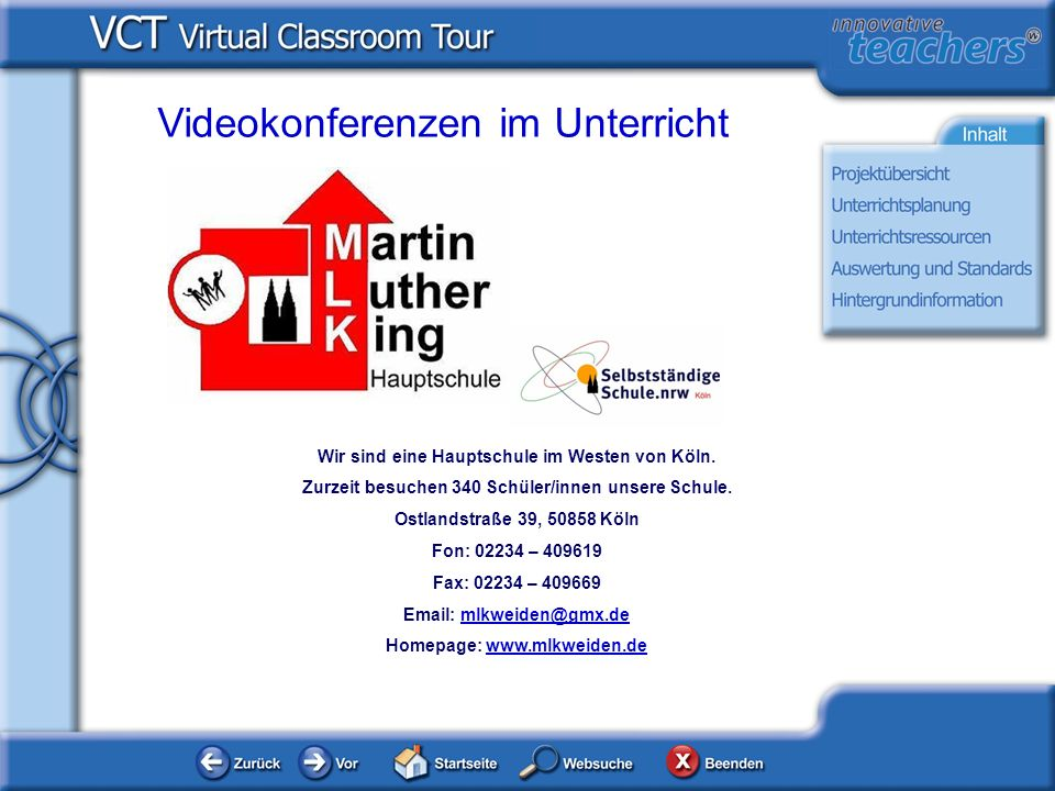Videokonferenzen im Unterricht