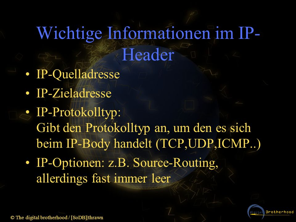 Wichtige Informationen im IP-Header