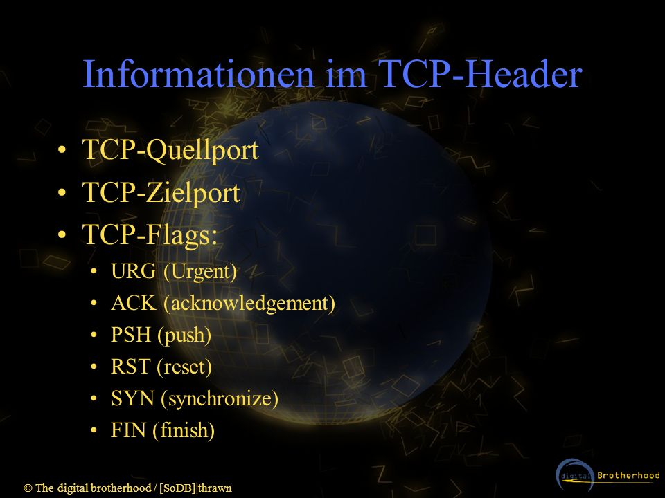 Informationen im TCP-Header