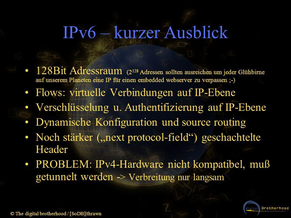 IPv6 – kurzer Ausblick