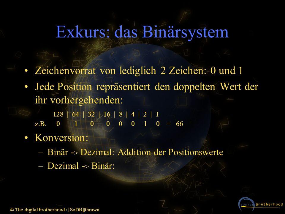 Exkurs: das Binärsystem