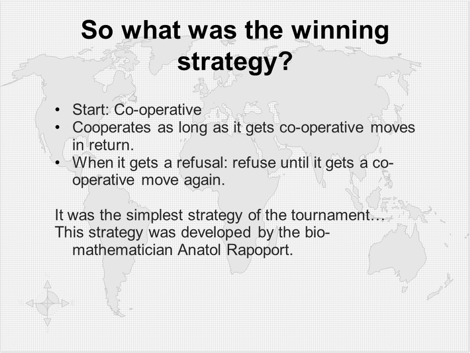 So what was the winning strategy