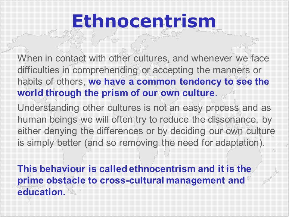 3434 Ethnocentrism.