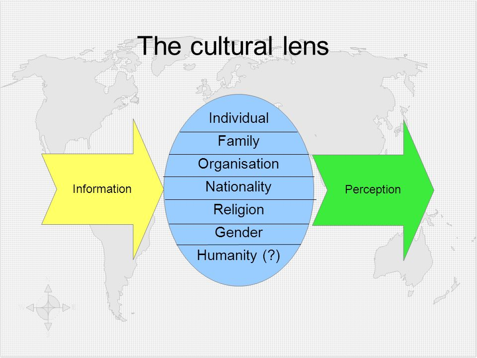 The cultural lens Individual Family Organisation Nationality Religion