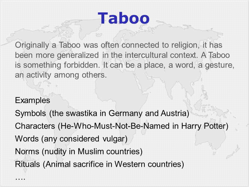 4949 Taboo.