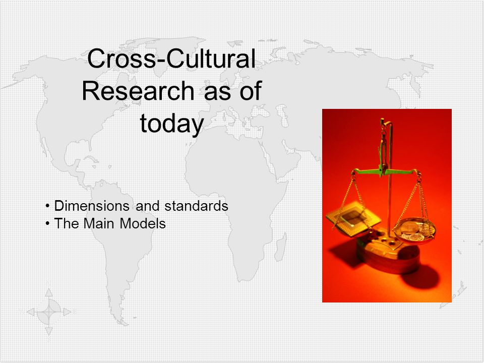 Cross-Cultural Research as of today