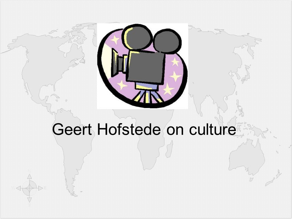Video: Geert Hofstede on culture