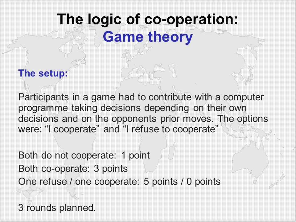 The logic of co-operation: