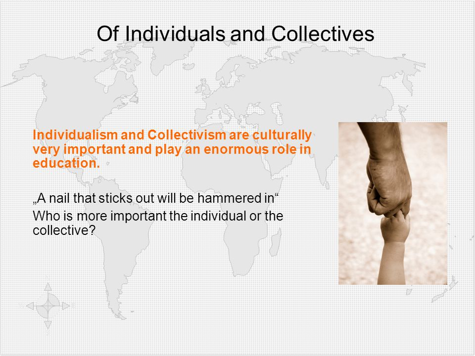 Of Individuals and Collectives
