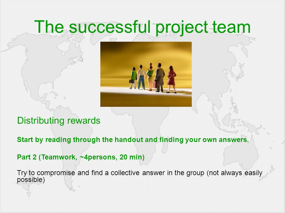 The successful project team