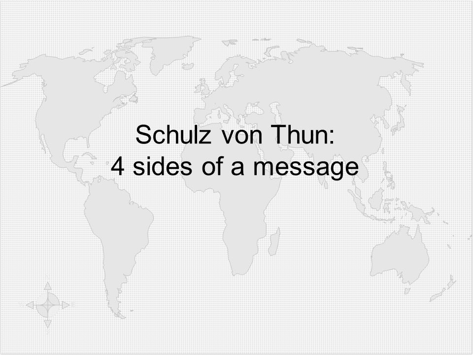7878 Schulz von Thun: 4 sides of a message 78 78