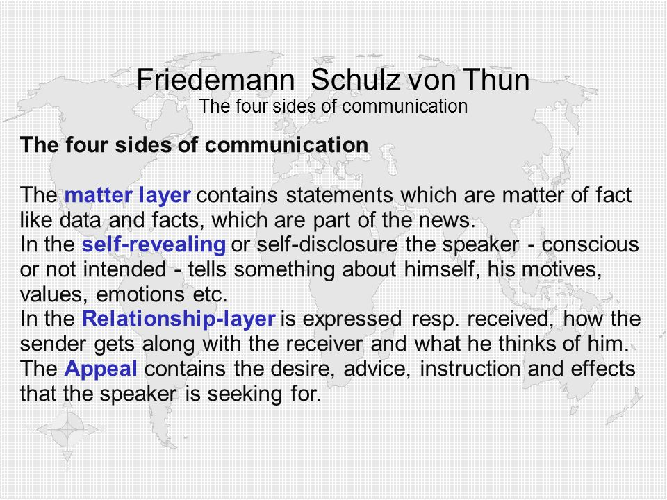 Friedemann Schulz von Thun The four sides of communication