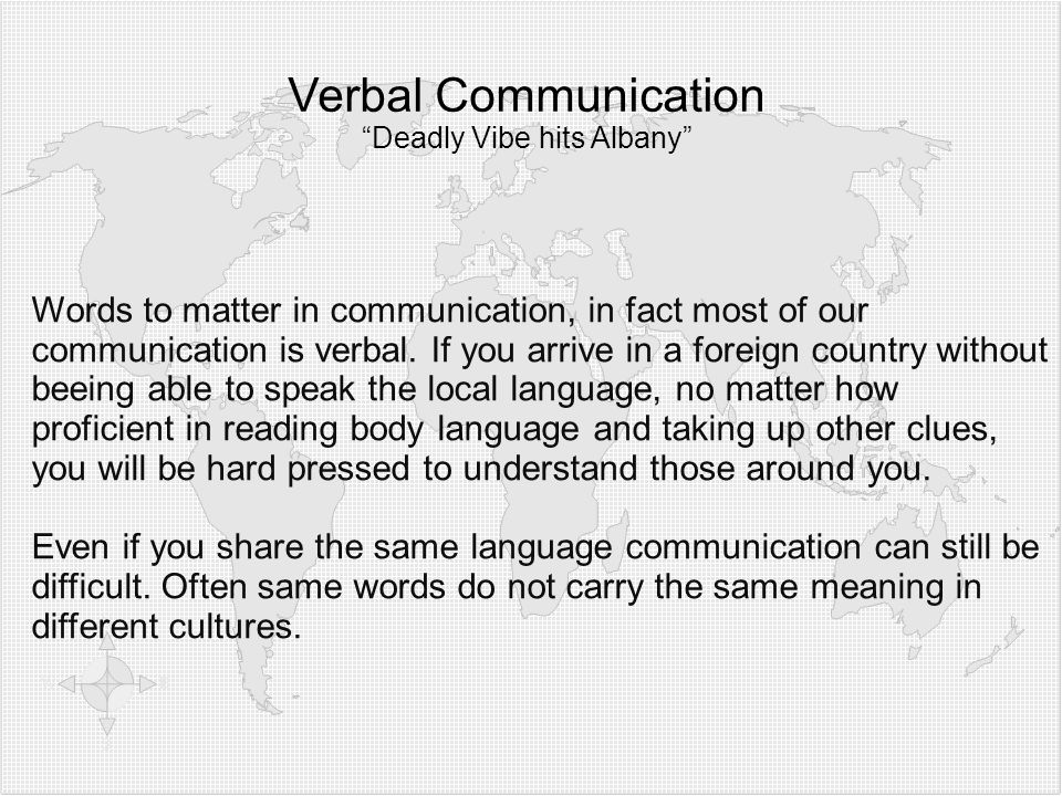 Verbal Communication Deadly Vibe hits Albany