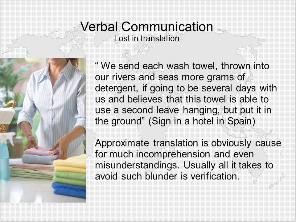 Verbal Communication Lost in translation