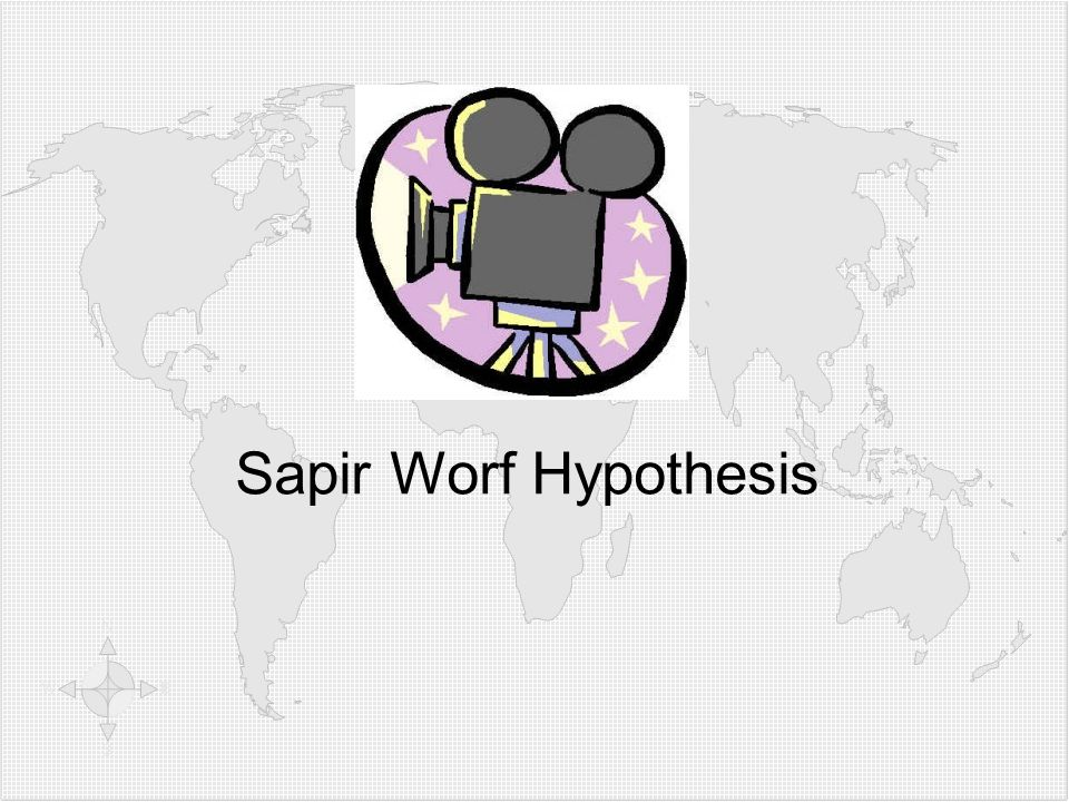 Video: Sapir Worf Hypothesis