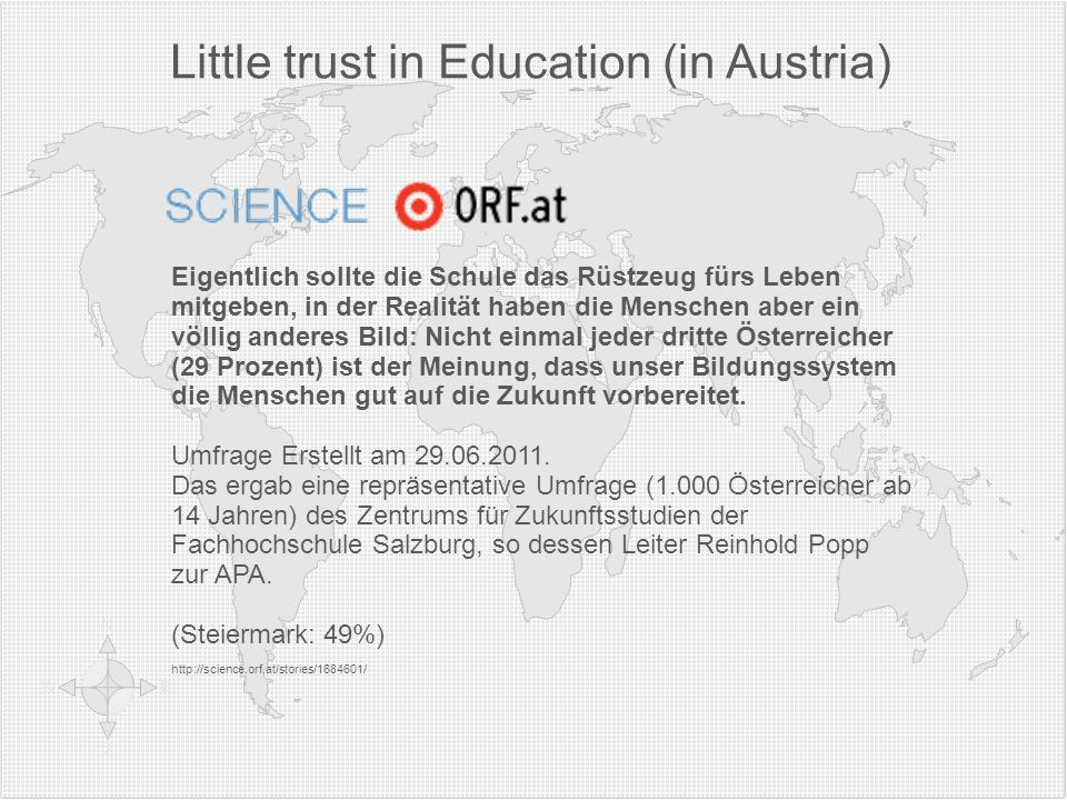 Little trust in Education (in Austria)