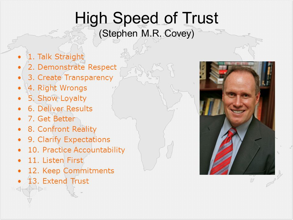 High Speed of Trust (Stephen M.R. Covey)