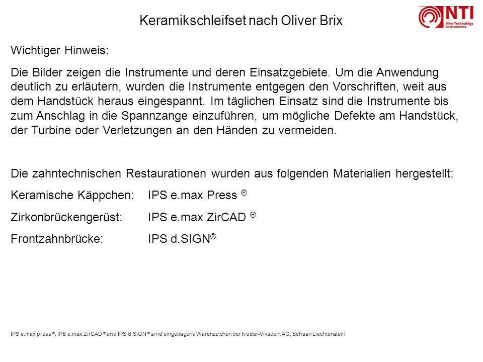 Keramikschleifset nach Oliver Brix