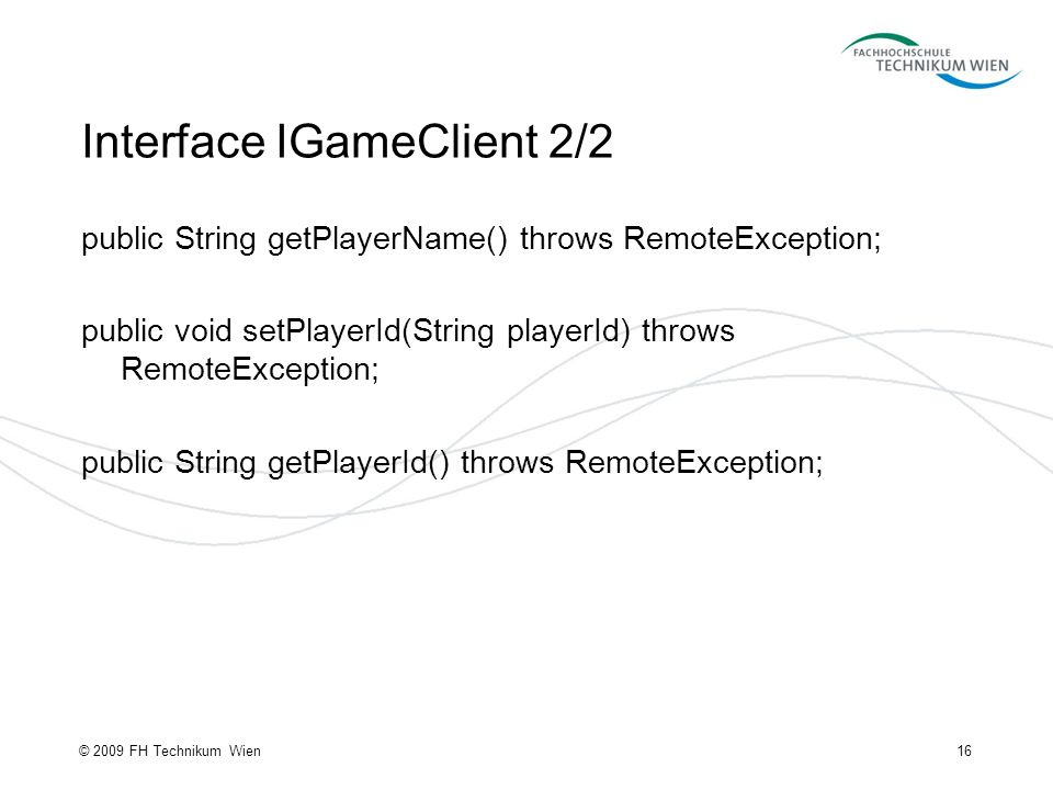 Interface IGameClient 2/2
