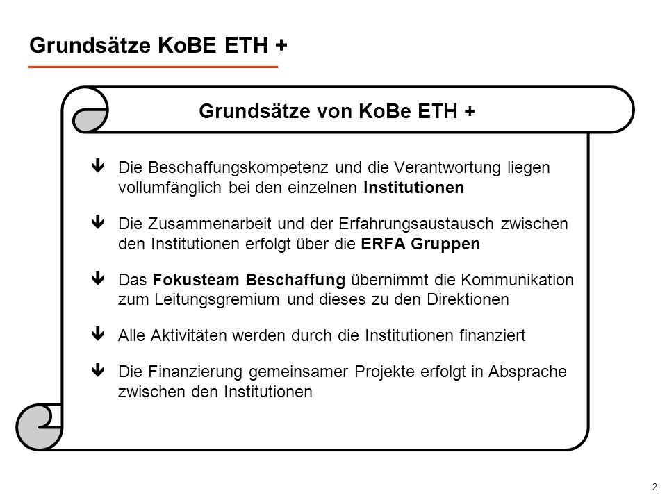 Grundsätze KoBE ETH + Grundsätze von KoBe ETH +