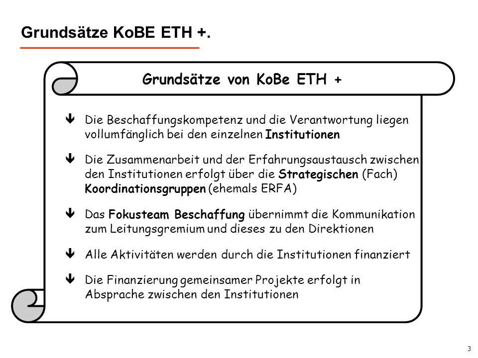 Grundsätze KoBE ETH +. Grundsätze von KoBe ETH +