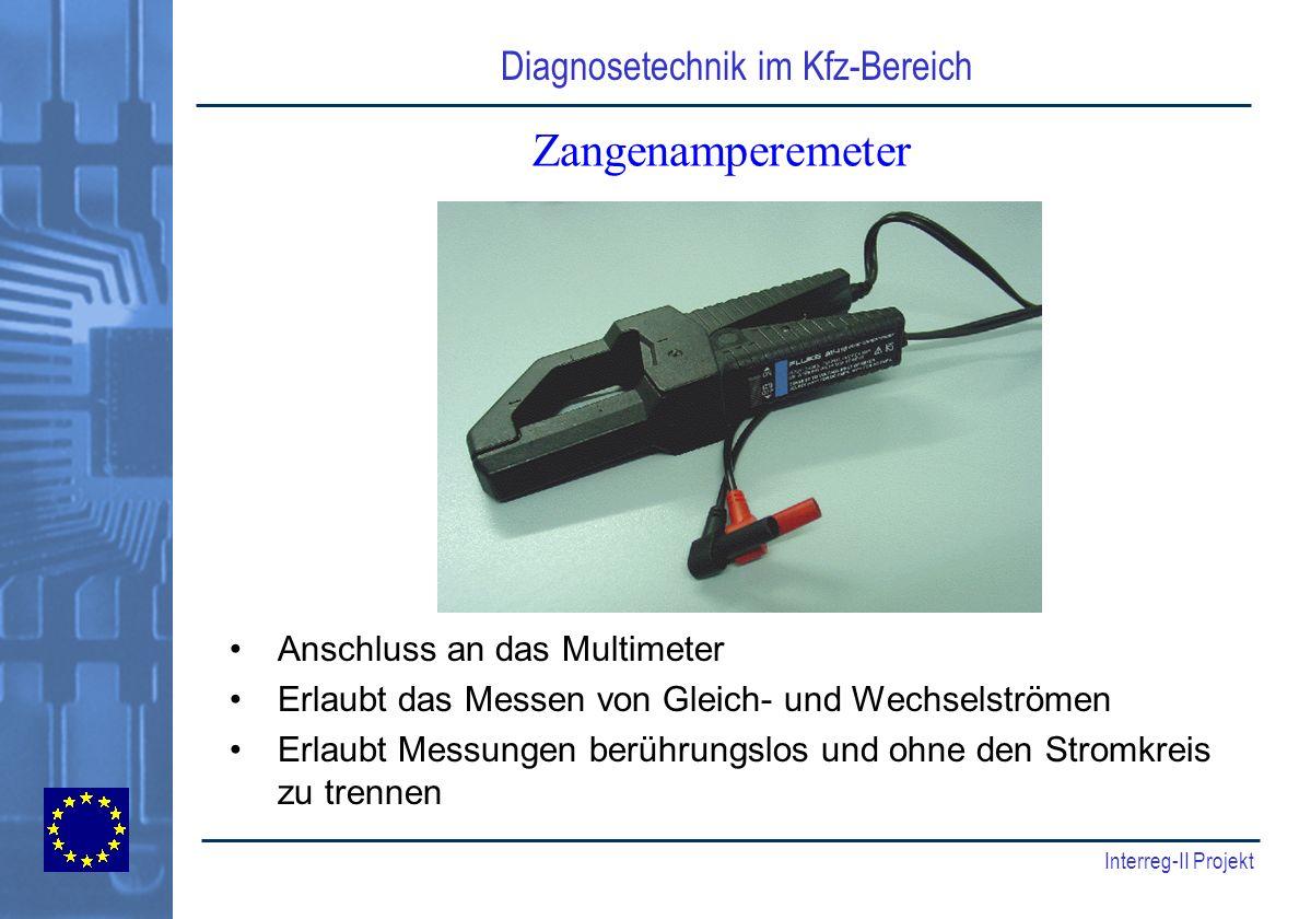 Zangenamperemeter Anschluss an das Multimeter