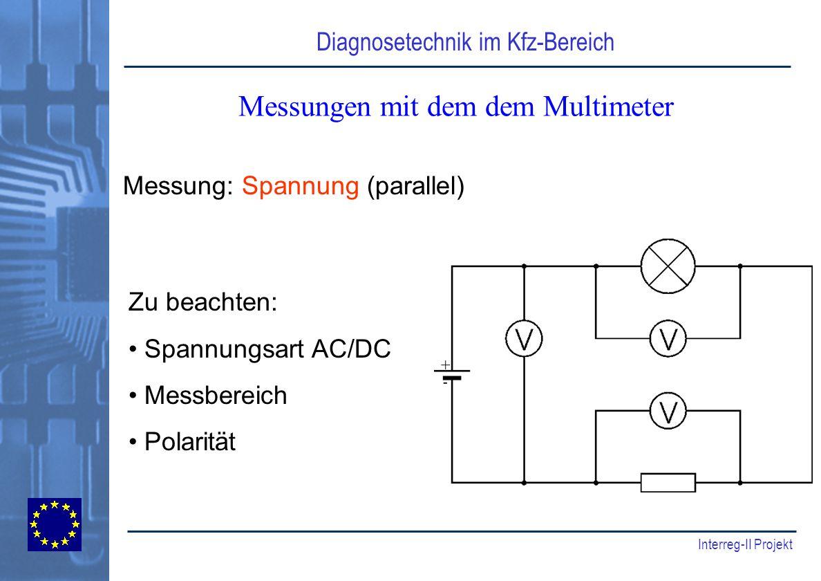 Messungen mit dem dem Multimeter