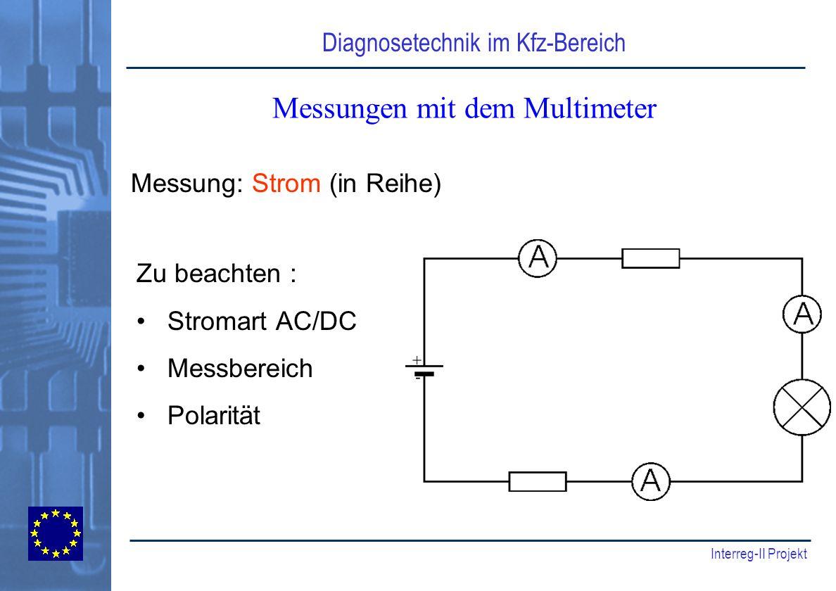 Messungen mit dem Multimeter